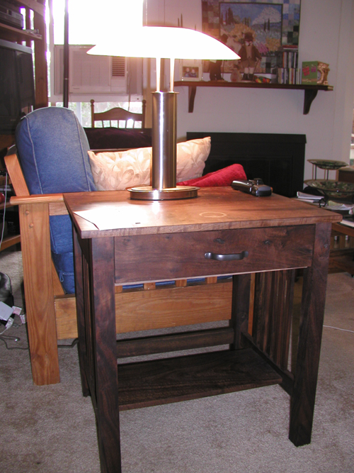 Claro Walnut End Table